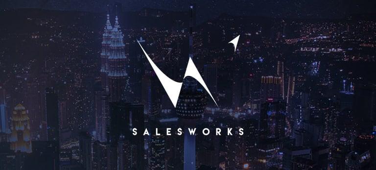 SalesWorks logo, eloomi customer using LMS solution for training and development