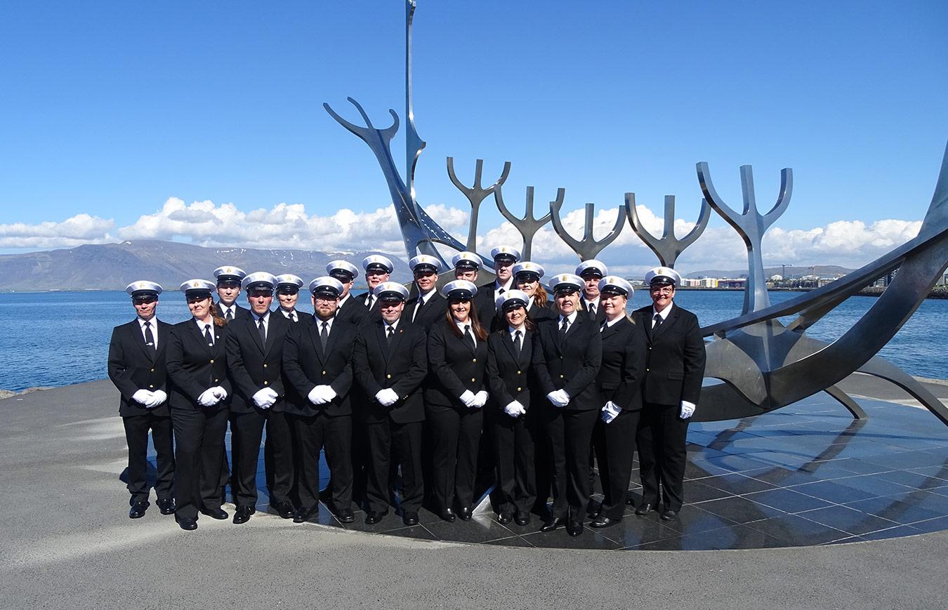 People wearing uniforms